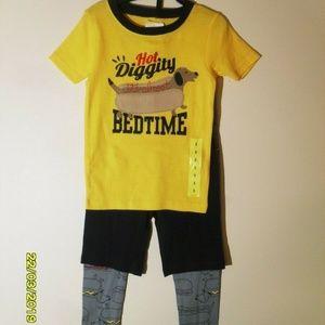 Carters Toddler  3-Piece Fleece PJ Pajamas Set Dog